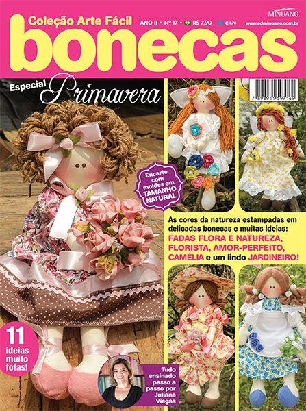 Artesanato - Bonecas : COL ARTE FACIL BONECAS ESP 017 - Editora Minuano