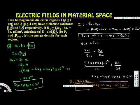 calculate (a) E1 and D1, (b) P2 and Ppv2 , (c) the energy density for ea...