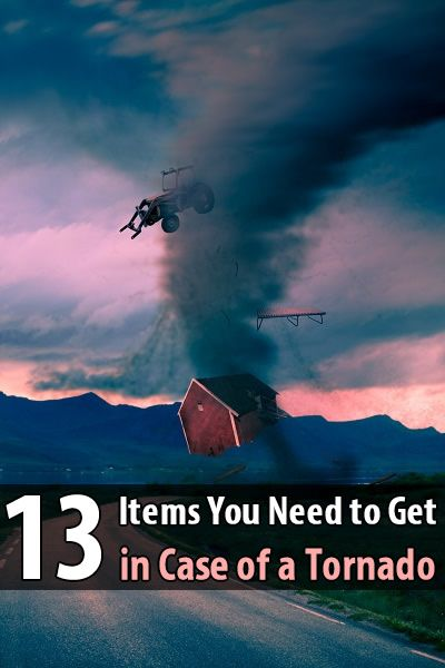 I came across two excellent articles about tornado preparedness by The Homesteading Hippy. She mentions 13 items that you should have in case of a tornado.