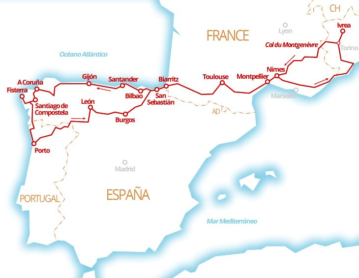 5300 km - Provenza, Paesi Baschi, Asturie, Galizia, Portogallo del nord