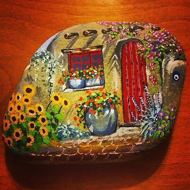 17 Best Images About Mushroom Fairy Houses Painted Rocks