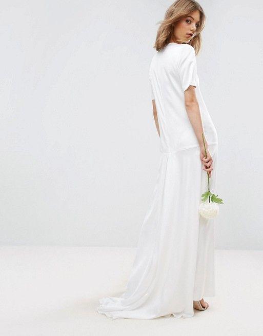 ASOS BRIDAL T Shirt Fishtail Maxi Dress Pinned By Amy Of Amysshop