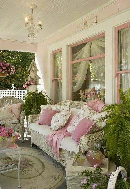 A Shabby Chic Covered Porch