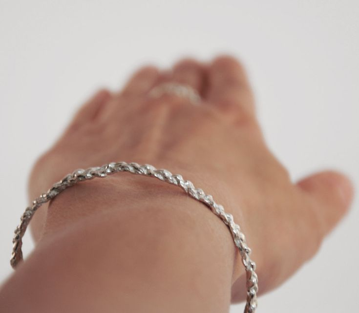 gehaakte armband van sterling zilver door miekedebeensieraden op Etsy
