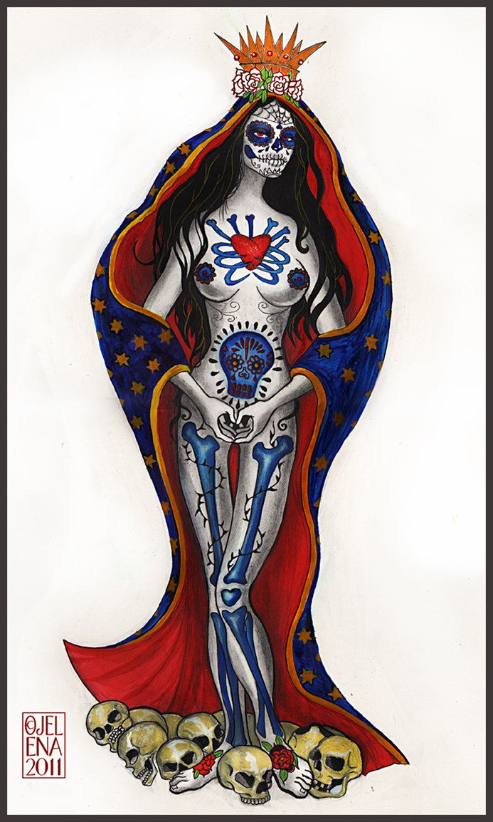 SANTA MUERTE - commission work design I did for a tattoo couple of months ago. I also did a sculpture after this, will post that too soon. Thanks for looking!