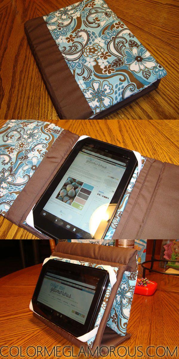 EReader Tasche nähen, Reader Hülle zum aufstellen - DIY Kindle Fire Case { Tutorial }