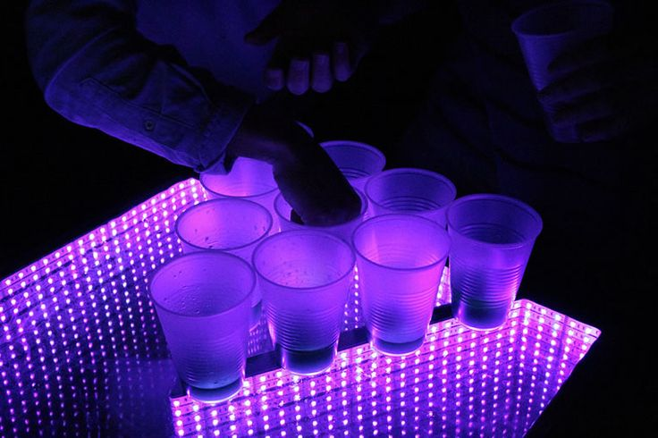 Infinity Glow LED Beer Pong Table Kicks Up Any Party To 11 -  #beer #drinking #party