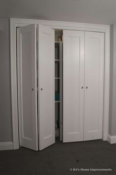 Image result for bifold closet doors makeover