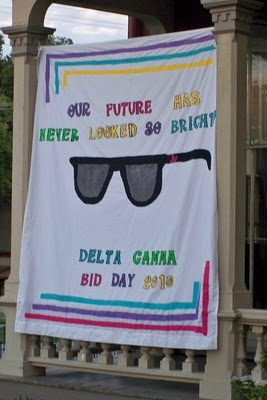 Banners / Posters | Delta Gamma | Future Looks Bright at Delta Gamma - cute Bid Day Banner! #greek #sorority #recruitment