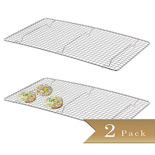 2  Chrome Plated Wire Pan Grate  Cooling Racks 10 x 18 *** Click image for more details.