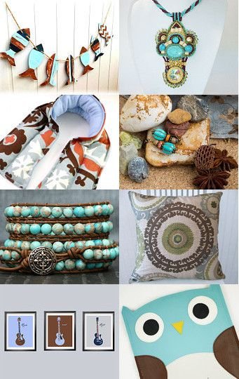 blue and brown by Victoria Rainbow on Etsy--Pinned with TreasuryPin.com