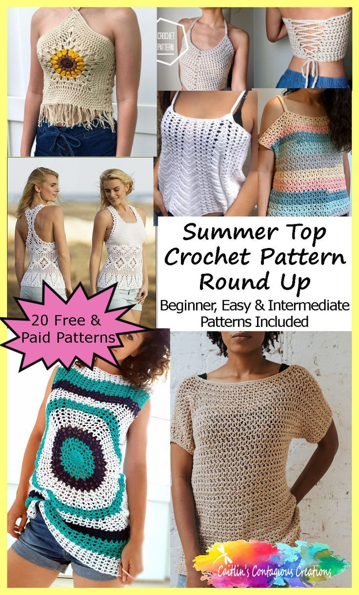 Summer Top Crochet Pattern Round Up 3