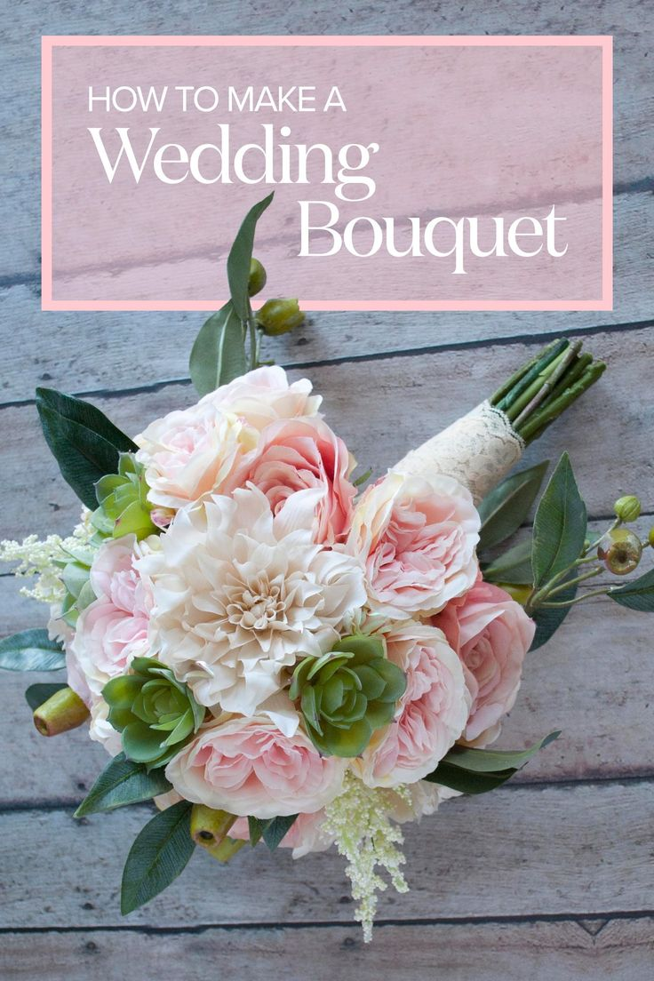 How To Make A Wedding Bouquet in 2020 Flower bouquet