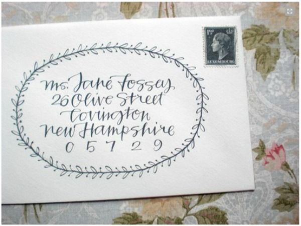 Beautiful Address Calligraphy Snail Mail Pinterest