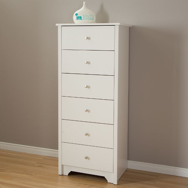 Best Pure White 6 Drawer Tall Chest Vito 6 Drawer Chest 640 x 480