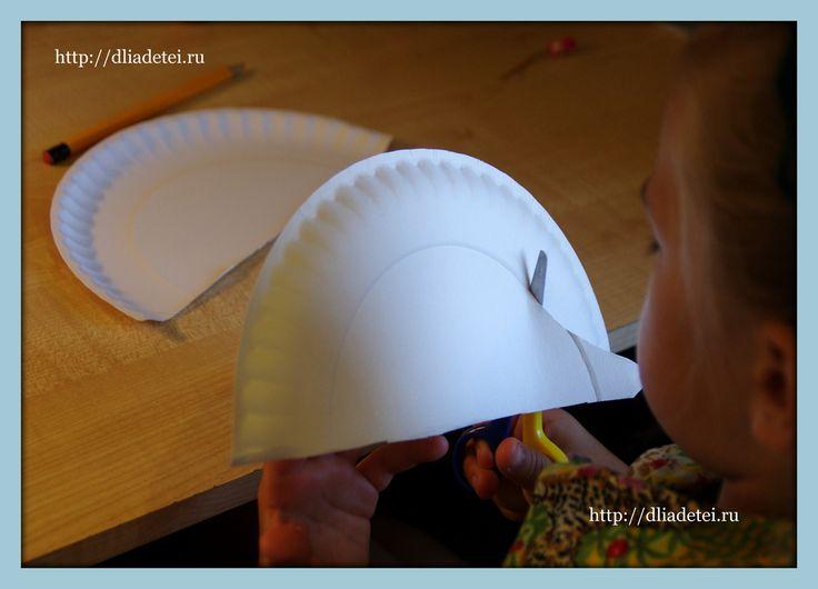 поделки для детей, поделки с детьми, поделка ежик, ежик поделка +для сада, поделки +из бумажных тарелок,