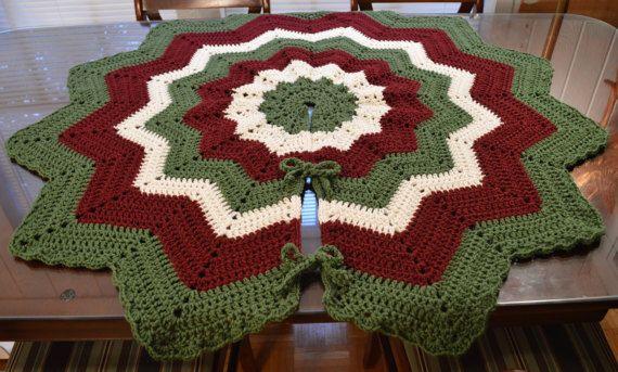 Crochet Victorian Christmas Tree Skirt  43 by DiversifiedDesignsTX