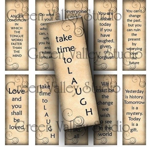 Digital Images Collage Sheet Inspirational Sayings Phrases Love Laugh Hug 1 x 3 Inch Slides for Pendants Magnets (M38) on Etsy, $2.75