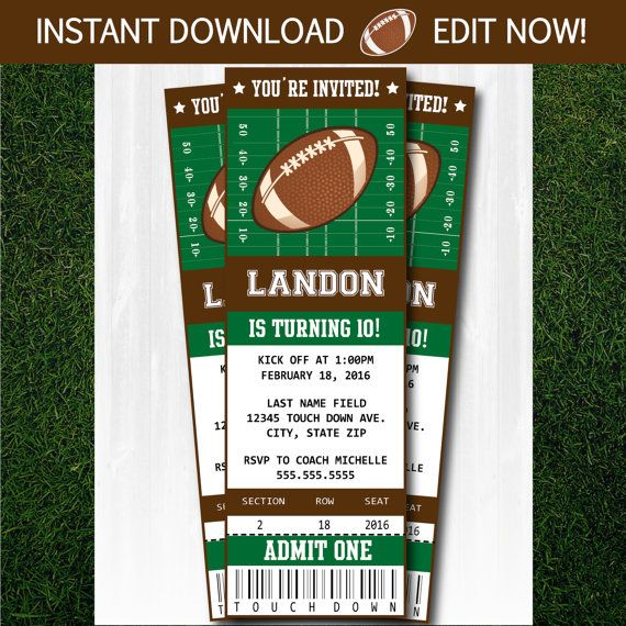 Best 20+ Football invitations ideas on Pinterest | Football party ...