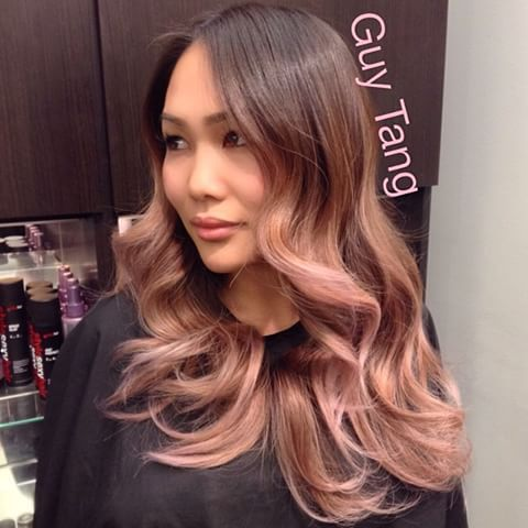 Hair Guy, Hair Diddin, Vani Hair, Balayage Guytang, Blonde Balayage, Blonde Hair, Rosegold Hair, Pink Gold Hair Shade Sweep, Ol Ombre
