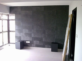 Tiled Slate Feature Wall. Part 74