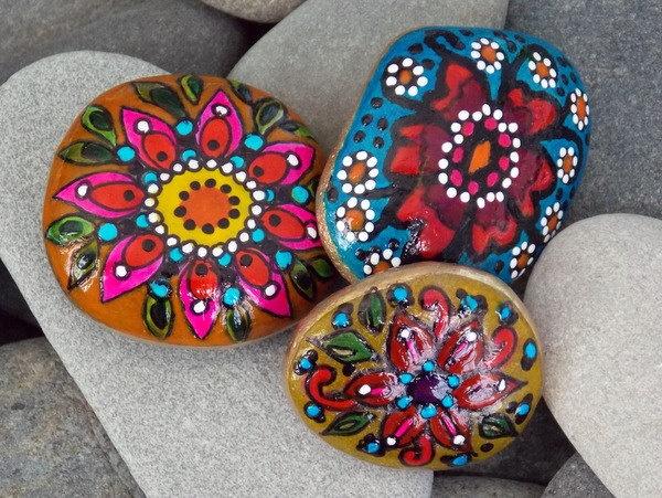 Bohemian Rock Garden Painted Stones
