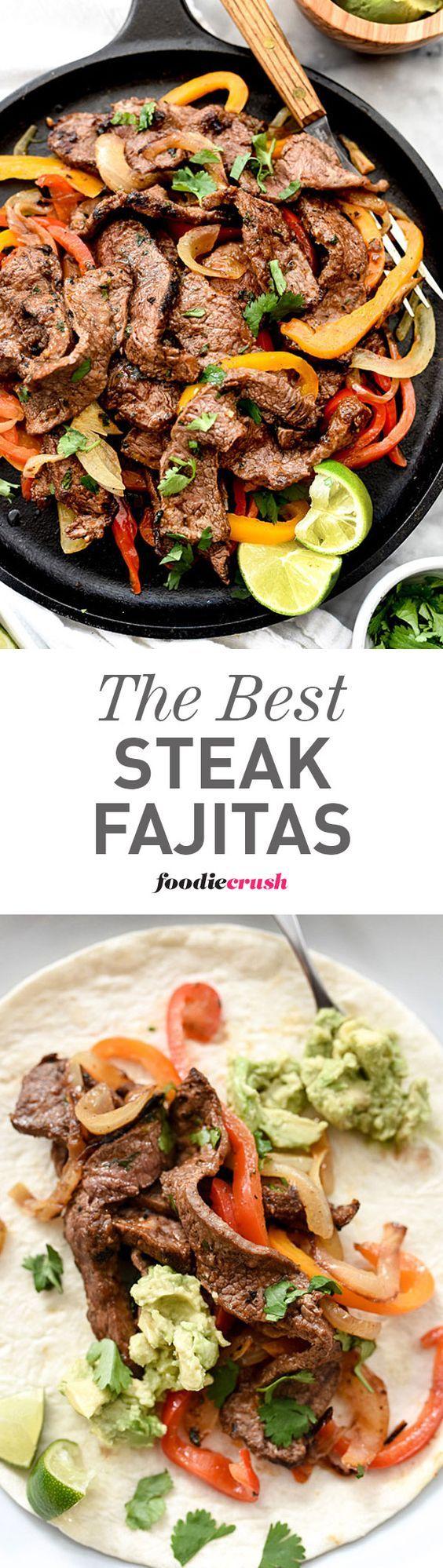 The homemade fajita spice mix is what makes these Steak Fajitas the best I've ever eaten