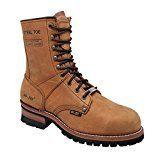 "AdTec Men's 1740 Logger Boots 9"" Steel Toe,Brown,9.5 M US"