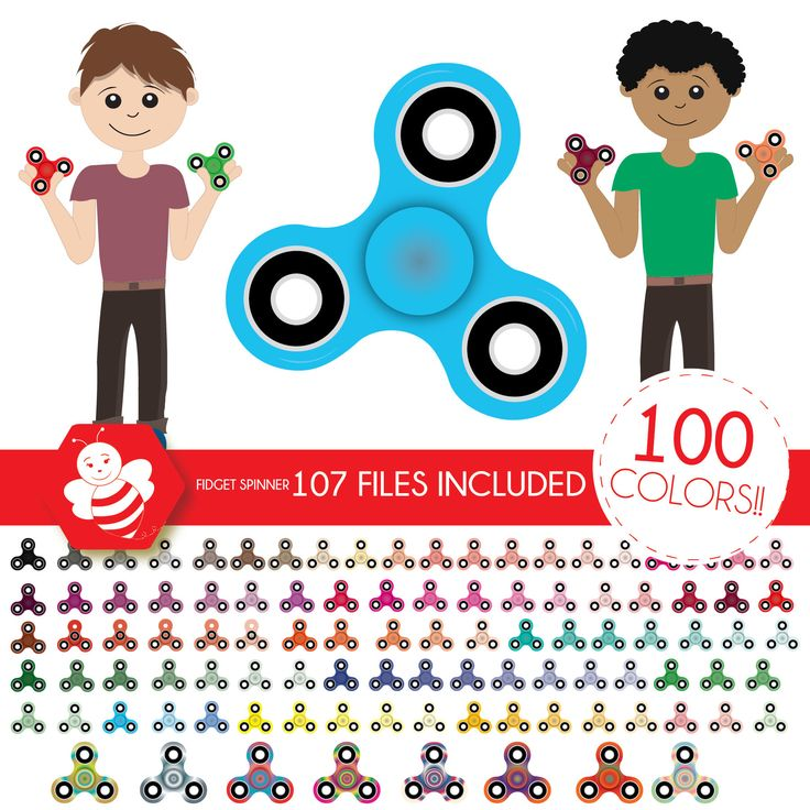 Spinner clipart, spinners clip art, spinner fidget toy, kids toy spinner, children toy, fidget spinner madness, Scrapbooking, CL0034 by Sweetdesignhive on Etsy