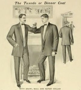 Formal dinner wear dates back many years, but a dinner suit and bow tie became fashion in the late 1900's