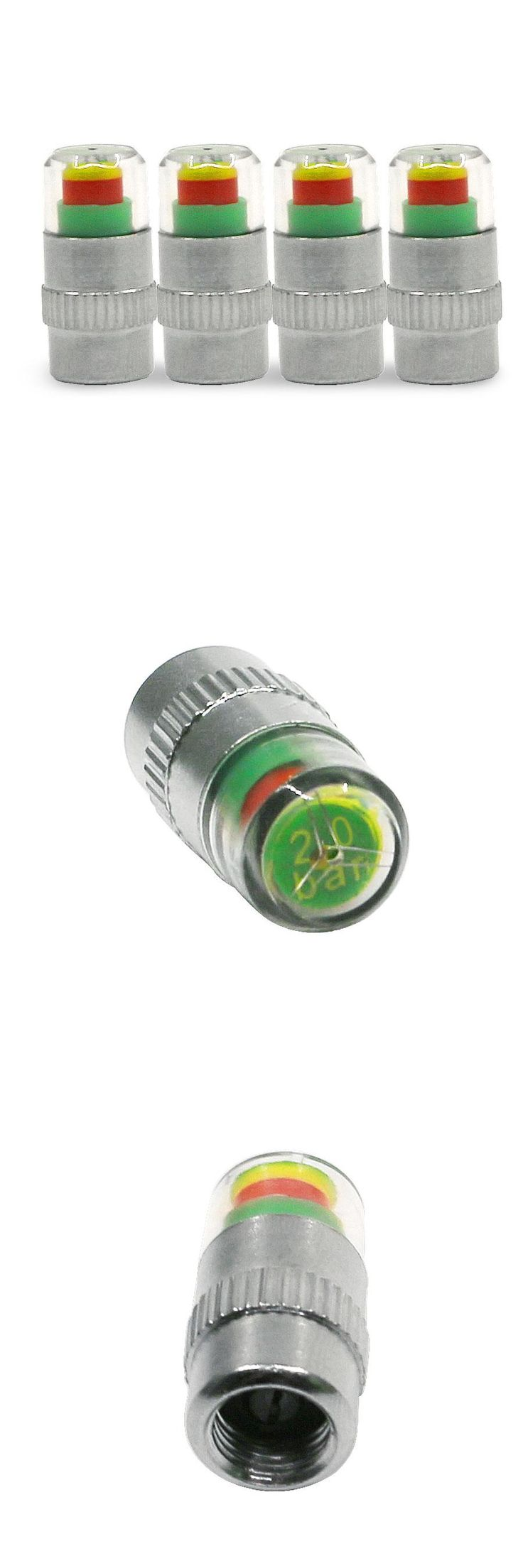[Visit to Buy] 4PCS/set 2.0Bar 30PSI Auto Car Tire Pressure Monitor Valve Stem Caps Sensor Indicator Eye Alert Diagnostic Tools Kit #Advertisement