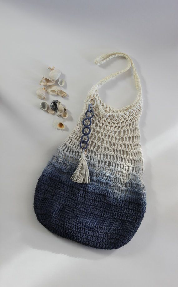 Bag /tote. Beach crochet woman's bag with by mixandmatchEledesign, $60.00