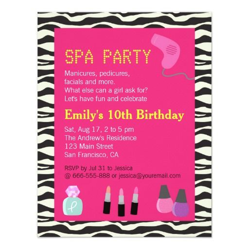 1000 Images About Funny Birthday Party Invitations On: 1000+ Images About Spa Birthday Party Invitations On