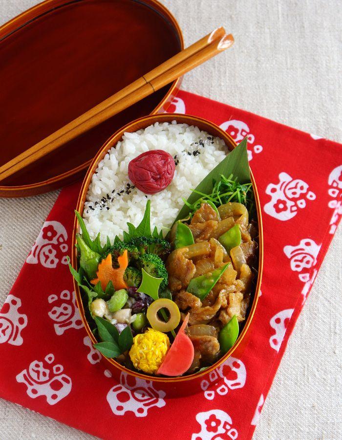 Ginger pork bento/ 豚の生姜焼き弁当