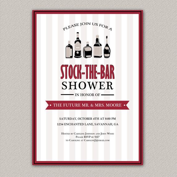 Stock the Bar Bridal Shower Invitation