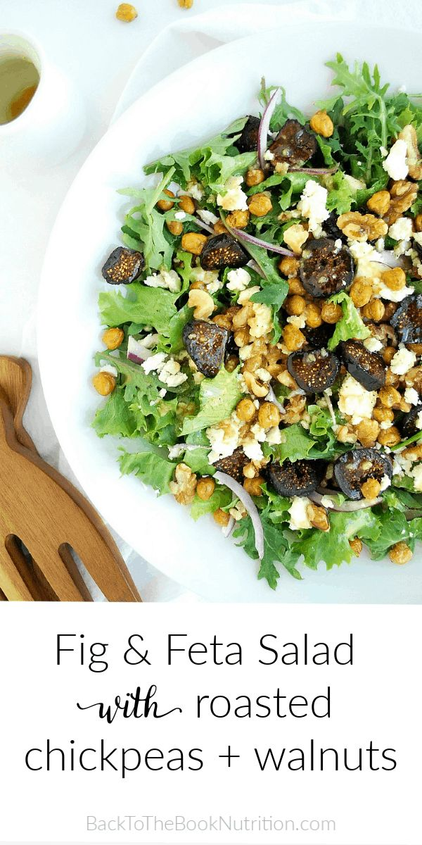 Crispy roasted chickpeas add a savory crunch to this Mediterranean inspired Fig …   – Best of Back To The Book Nutrition