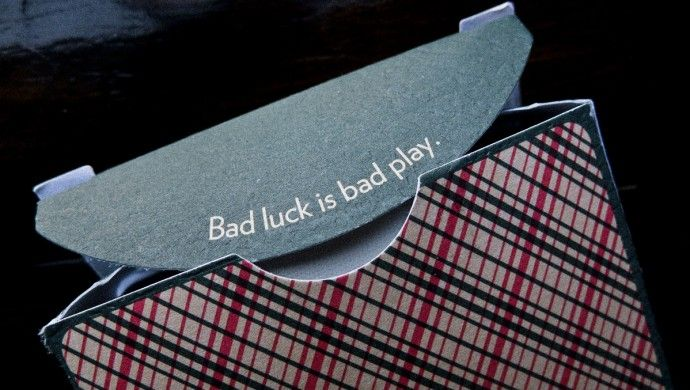 'Bad Luck is Bad Play' - Plaid playing cards by D