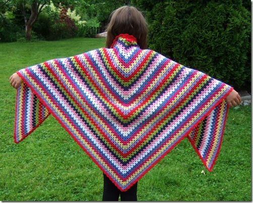 Granny Stripe Shawl!!! Oh I'm so crocheting one of these....  I love it!!! And I'm making it in bright, crazy colors!! Really I am....