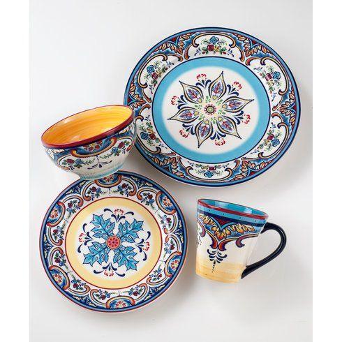 Zanzibar 16 Piece Dinnerware Set, Service for 4