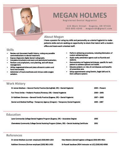 get this and other extra cool resume templates that you can customize yourself for only 7 dental hygiene