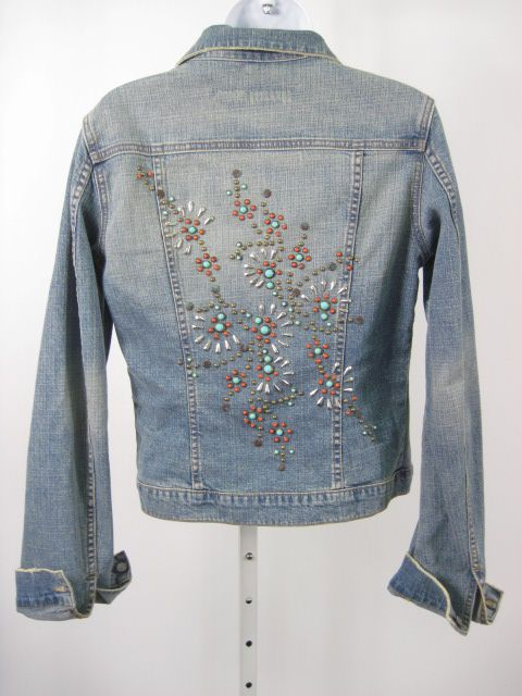 Embellished Jean Jackets | Streets Ahead Embellished Denim Jacket Sz M | eBay