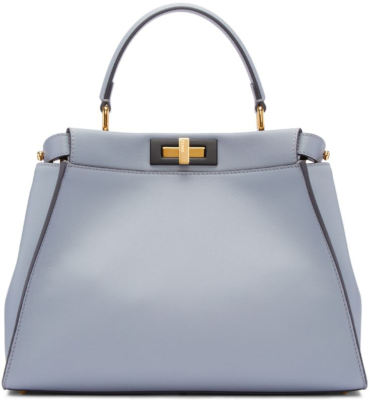 Fendi: Blue Regular Peekaboo Bag | SSENSE