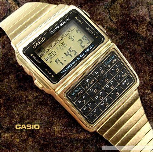 Casio Databank gold