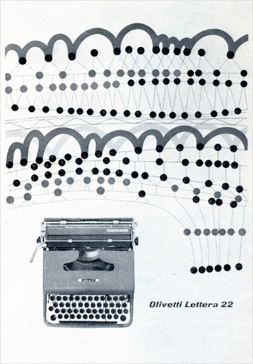 Poster for Olivetti typewriter by Giovanni Pintori.