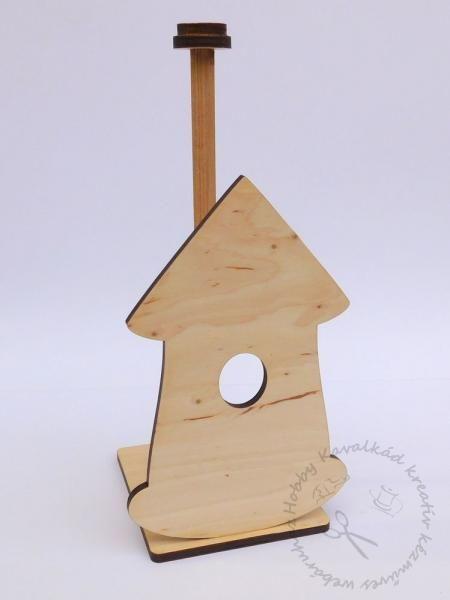 Hobbykavalkad - Webshop - Fa álló papírtörlő tartó, Madárház