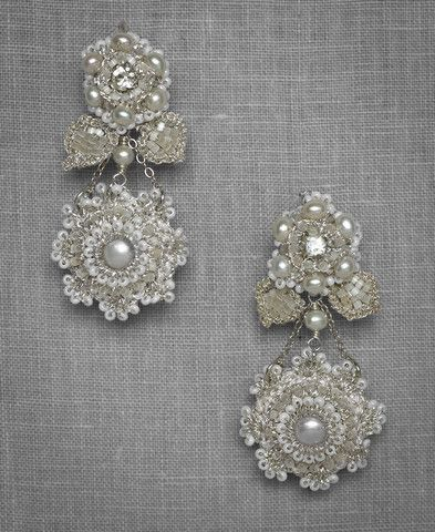 Love these! Crochet and pearl earrings! Serafina Earrings | The Loved One