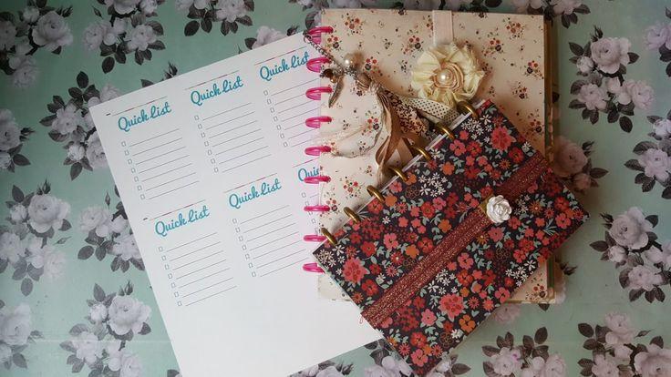 Quick List Planner Printable