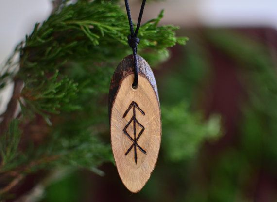 Viking Runes Protection Amulet for Home Defense Norse Mythology Pendant Bind Runes Futhark Handmade Charm Talisman Wicca Pagan
