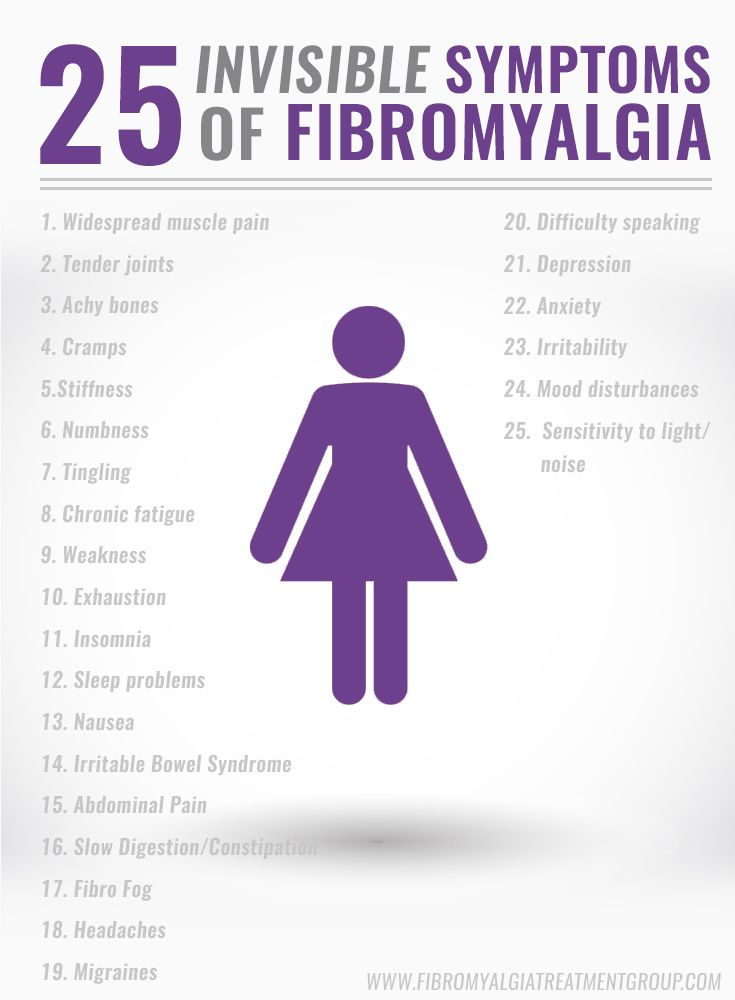 25 real symptoms of #fibromyalgia