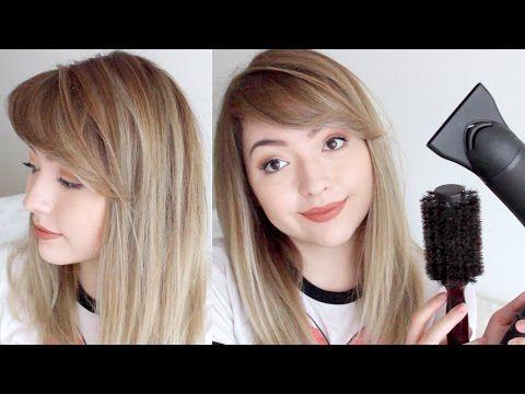 Cómo cortar el flequillo de lado | Corte de flequillo largo lateral | Corte de pelo franja lateral - YouTube